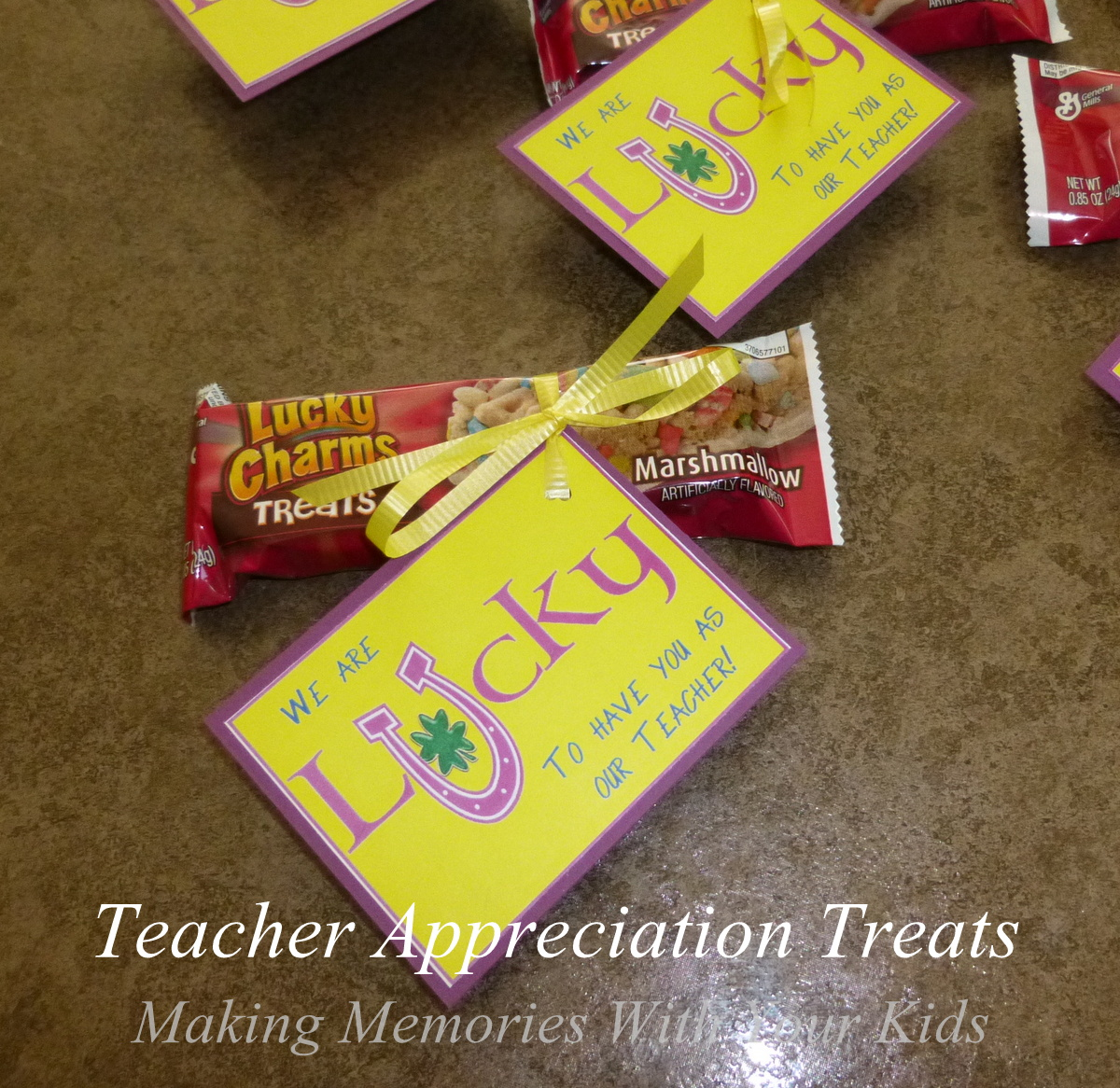 Lucky to have you teacher appreciation making memories with your lucky to have you teacher appreciation negle Image collections