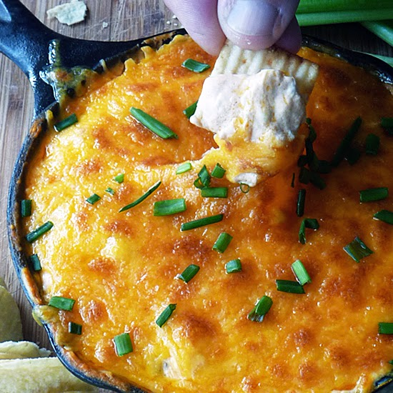 Buffalo Ranch Chicken Dip | by Life Tastes Good