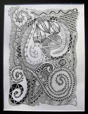 zendoodle, zentangle, art, doodle, drawing