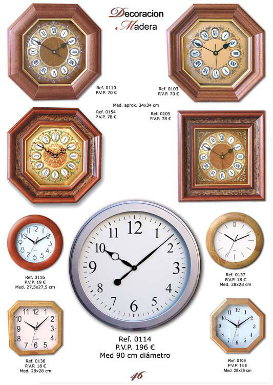Artis tempus cat logo de relojes decorativos - Relojes decorativos de mesa ...