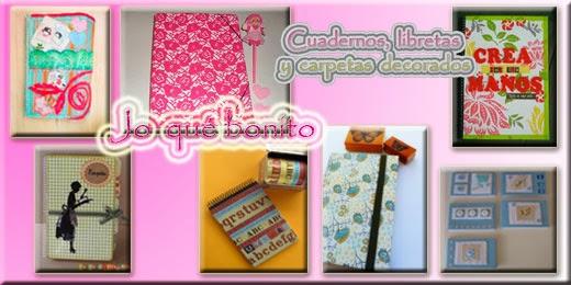 Cuadernos, libretas y carpetas decorados