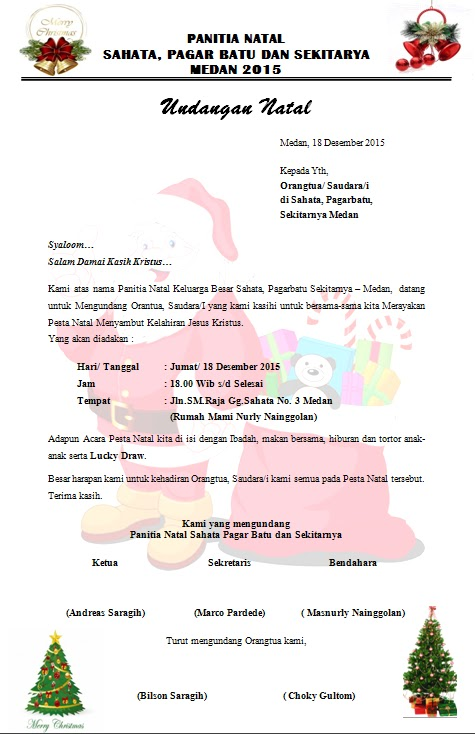 kumpulan sumber makalah jurnal contoh undangan natal stm