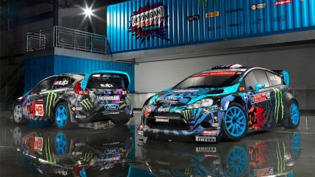 car i Ken Block no X Games Foz do iguaçu com seu New Fiesta 2013