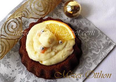 narancskrémes mézes mini torta karácsonyra fotó