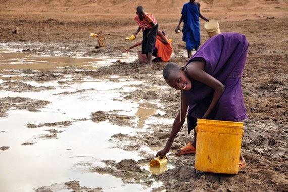 girls at water holes