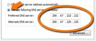 Put OpenDNS server to your DNS server