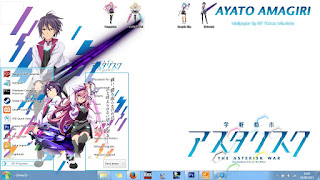 [Theme Win 7] Gakusen Toshi Asterisk by Eldiaz7 1