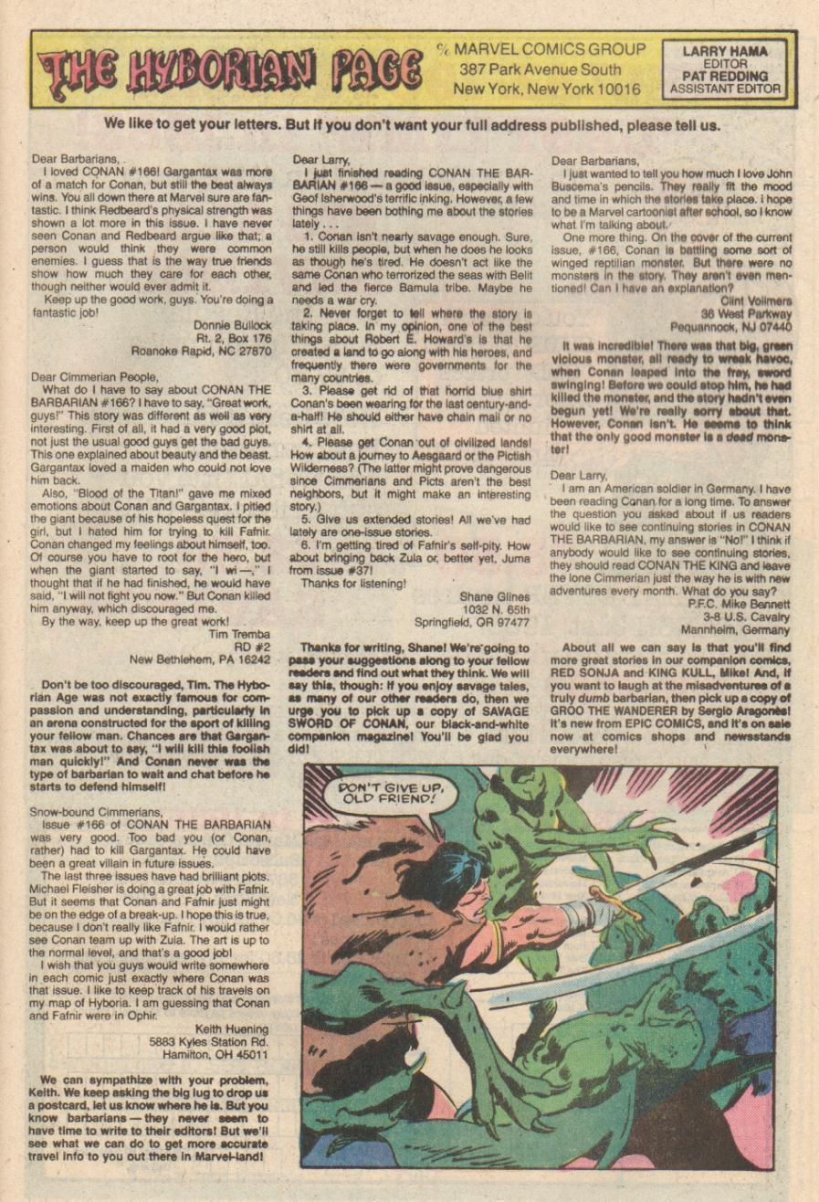 Conan the Barbarian (1970) Issue #170 #182 - English 24