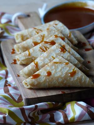 Samoussa de Crêpe Pomme Caramel Beurre Salé