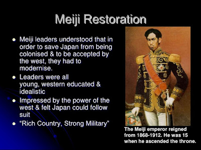 an overview of the infamous meiji restoration Lesson summary the meiji restoration replaced the tokugawa shogunate  it got rid of the feudal system and created the meiji constitution  meiji restoration: causes & effects.