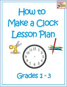 clock craft lesson plan
