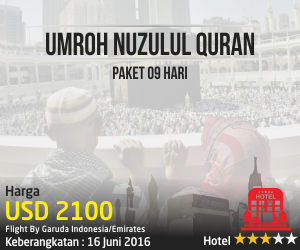 Umroh Nuzul Quran Paket 9 Hari