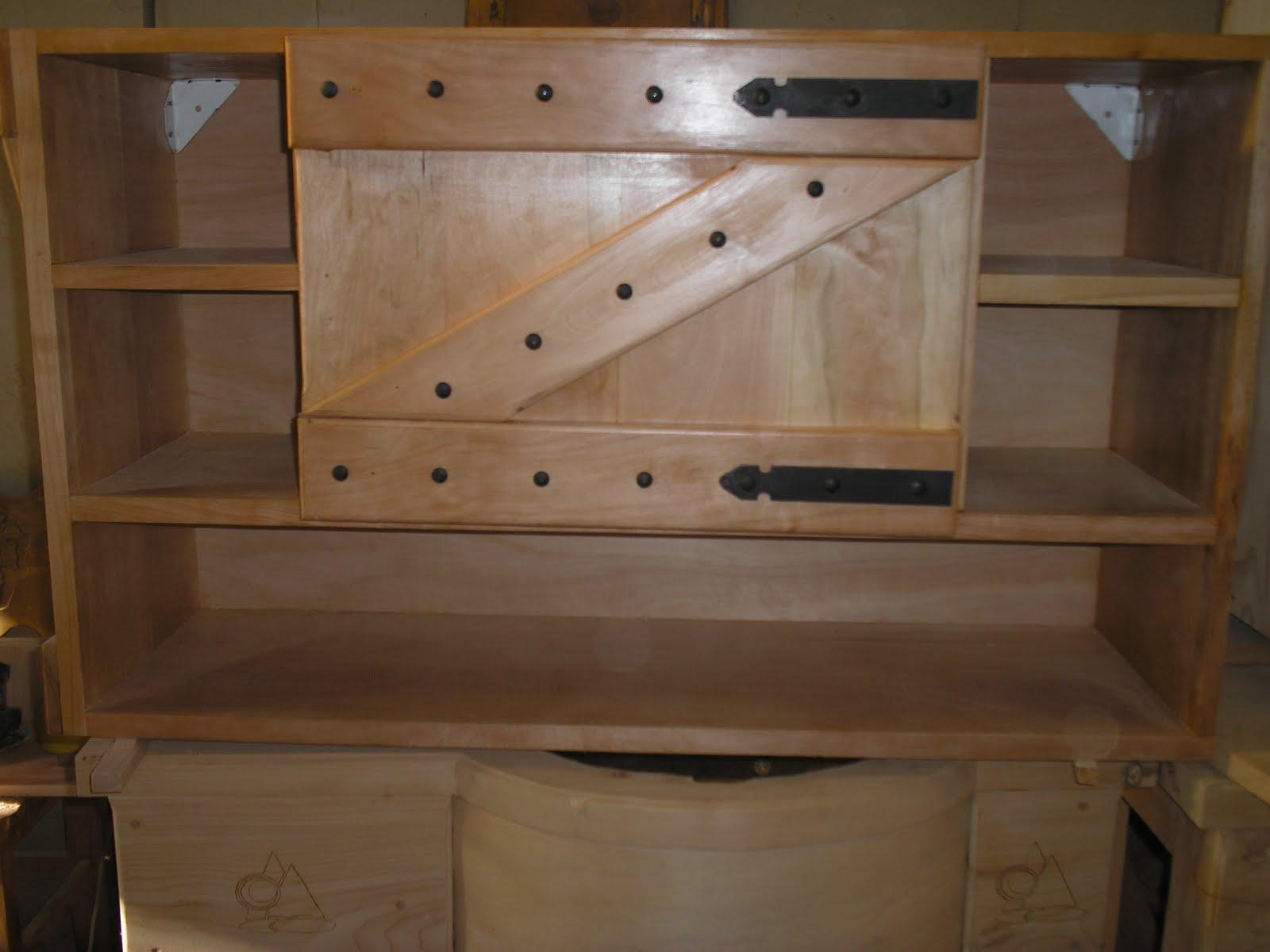 Muebles artesanales alacena y bajomesada estilo campo en - Muebles artesanales de madera ...