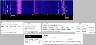 websdr server waterfall 30 meters
