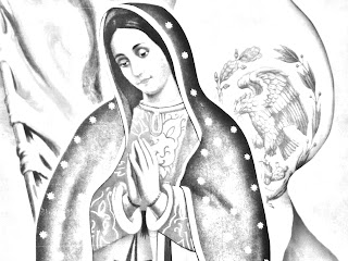 Virgen de México para colorear
