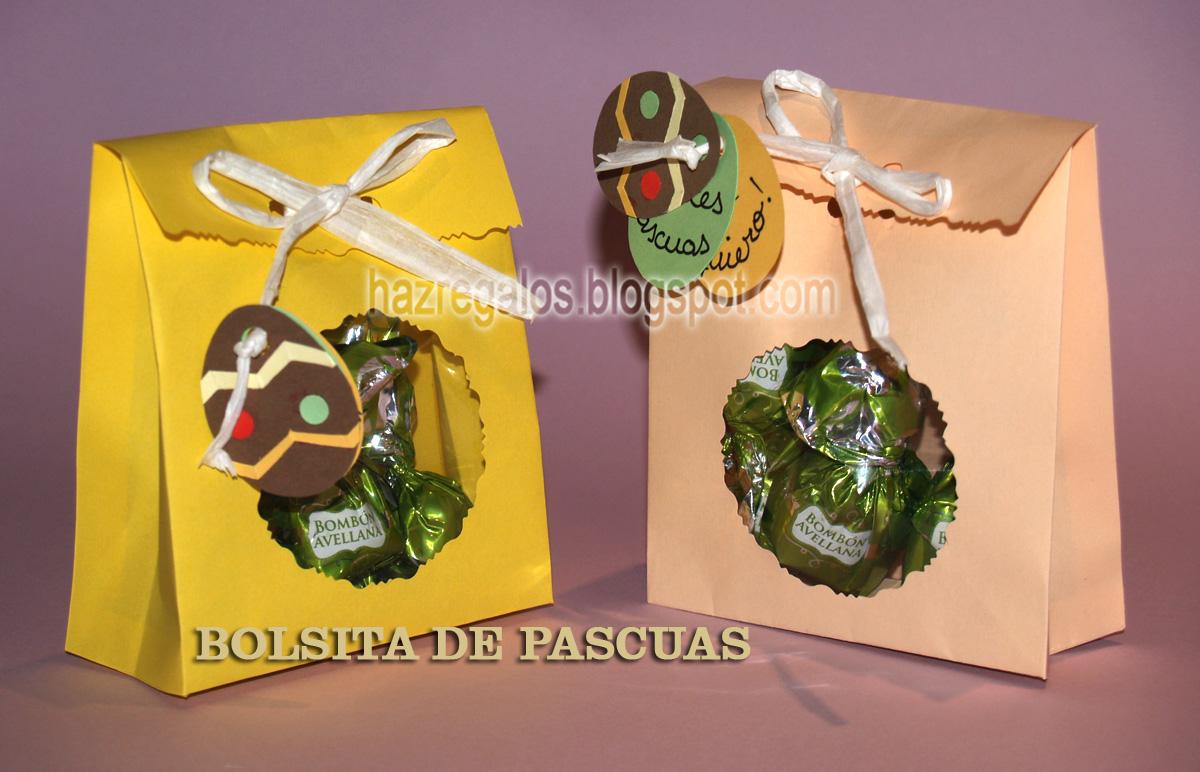 bolsitas de papel con chocolates para regalar