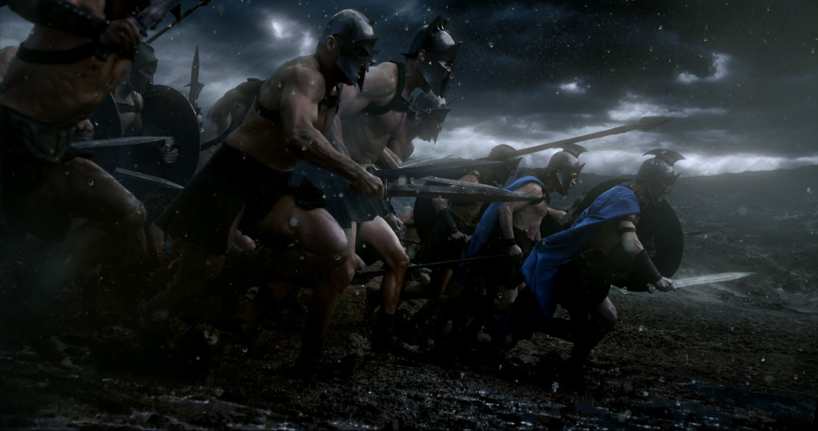 300: Rise of an Empire Athenian warriors charge