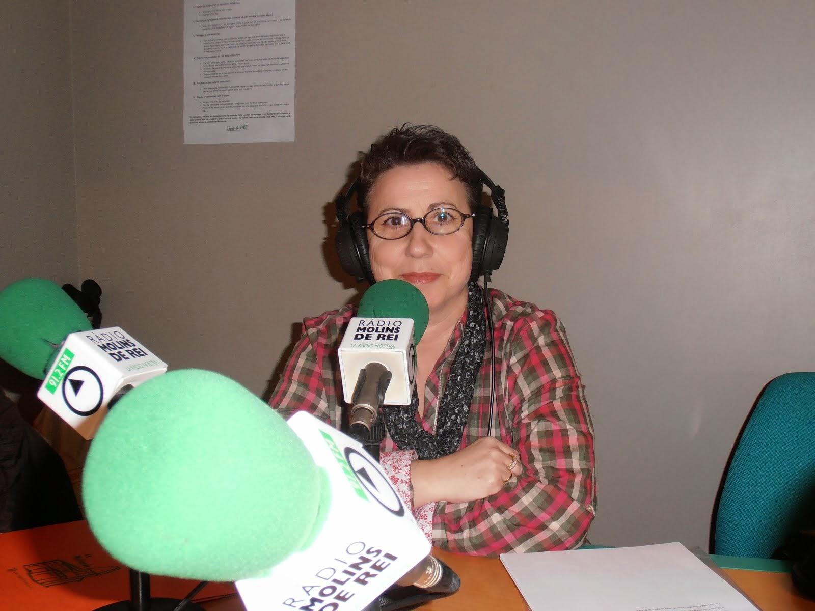 Entrevista en Radio Molins de Rei  en el programa Moments Amb Tessa Mas