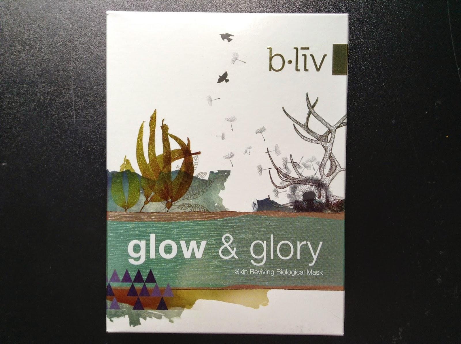 >> 入秋面膜精選*信美肌 b.liv by Cellnique glow & glory 光彩熠熠 生物面膜