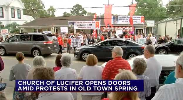 'Church Of Lucifer' Opens In Texas Amid Protests