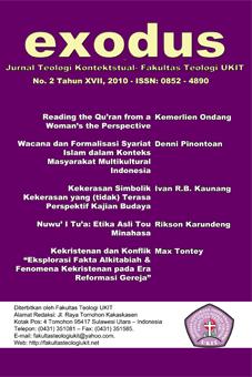 Jurnal Terbitan Fakultas Teologi