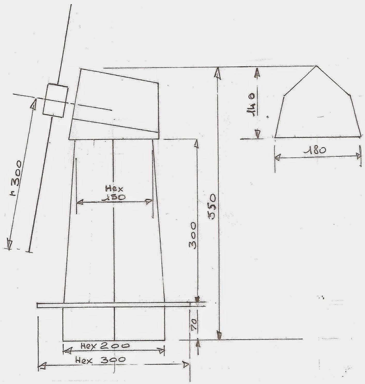 Les bricodossiers de papy un moulin de jardin - Plan moulin a vent en bois pour jardin ...