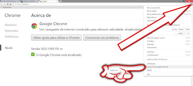 Atualizar o Google Chrome