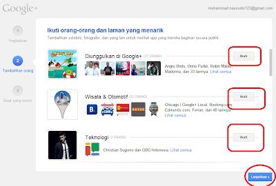 Laman Google +