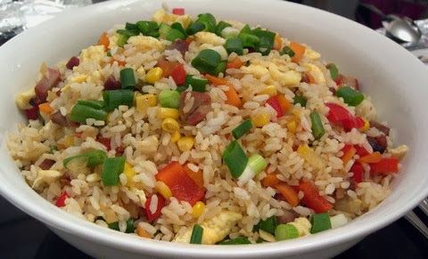 Tangy Fried Rice with Corn, Leek and Carrots