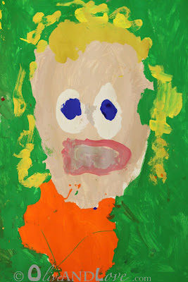 kindergarten self portrait project