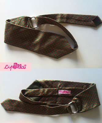 cinta con cravatta, pezzo unico fatto a mano