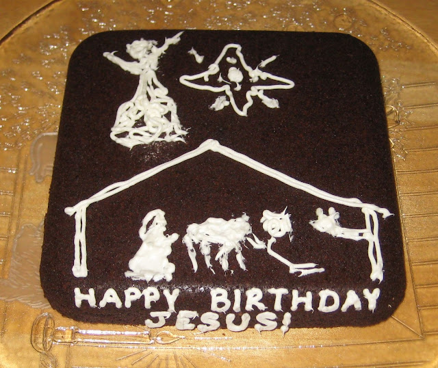 Christmas Nativity 'Happy Birthday Jesus' Brownies 1