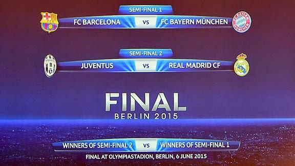 Semifinales de la Uefa champions league temporada 2015