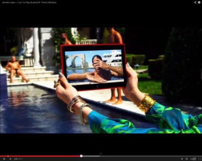 J-Lo Munculkan Tablet Nokia Lumia 2520 di Klip Terbarunya