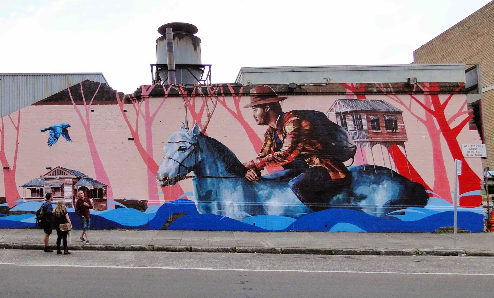 Fintan Magee just finished working on yet another massive mural somewhere in Marrickville, Sydney, Australia.