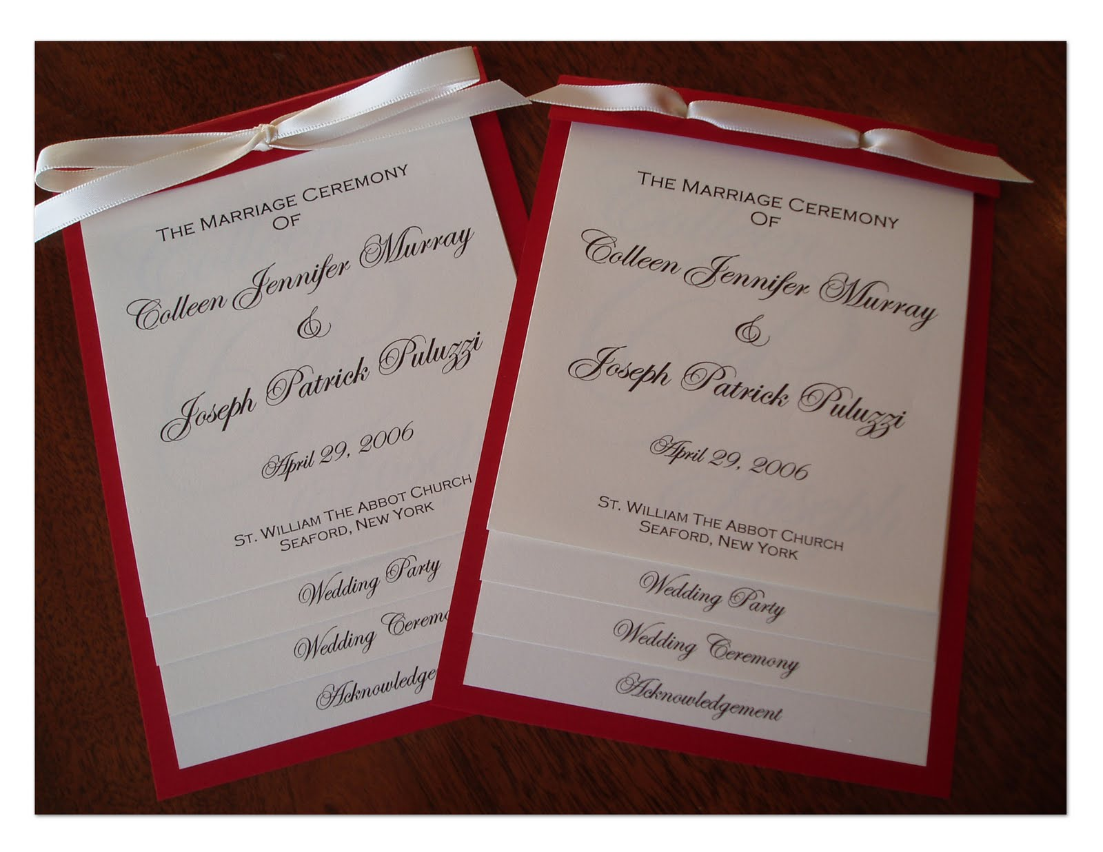 Wedding Collection Nowadays: wedding programs examples | wedding ...