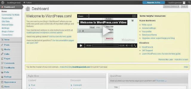 Cara Mudah Membuat Blog di Wordpress Gratis
