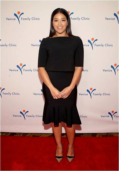Gina Rodriguez on Red Carpet at Silver Circle Gala