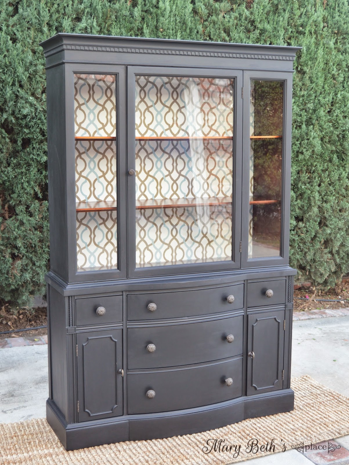 mounted chic painted greycabinet cabinet french wall wooden shabby cupboard china grey