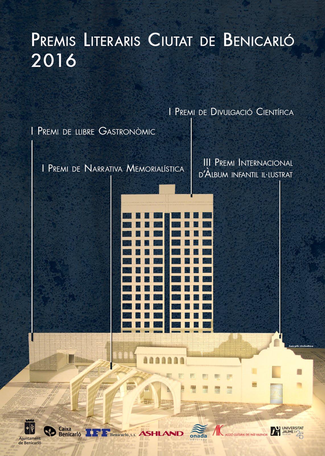 Premis Literaris Ciutat de Benicarló 2016