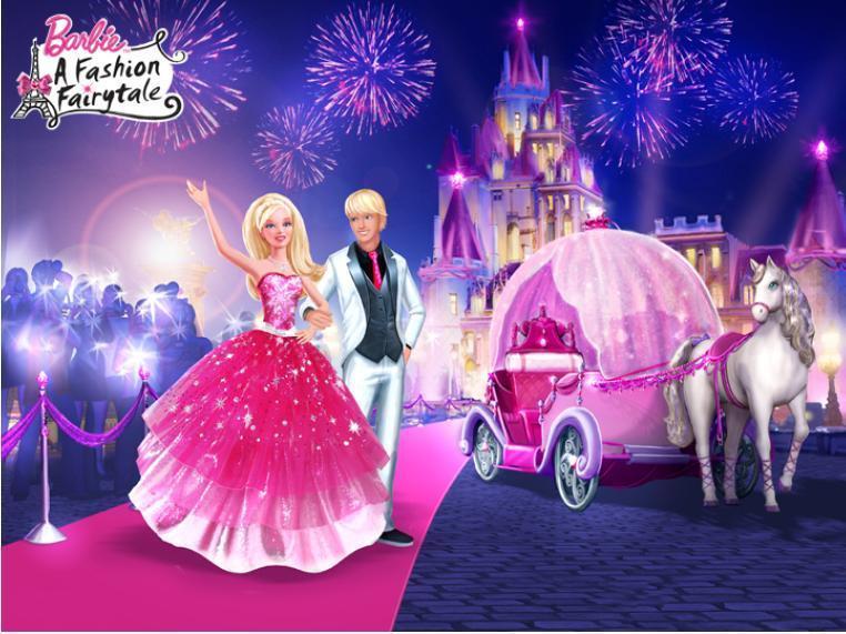 Imagenes de dibujos animados Barbie moda mgica en Paris
