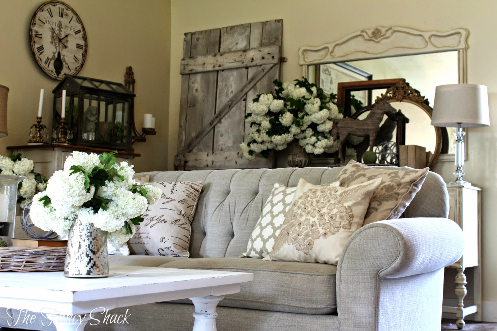 The fancy shack new living room furniture - Rustic chic living room ...