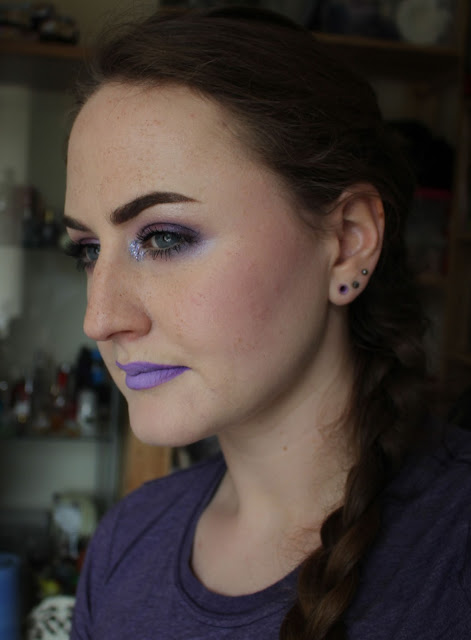 Purple galore makeup