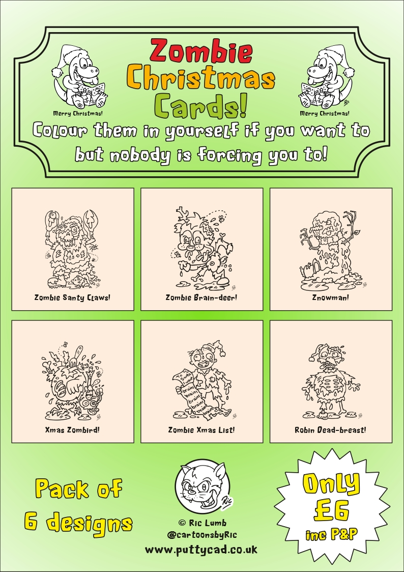 Putty CAD: ZOMBIE CHRISTMAS CARDS