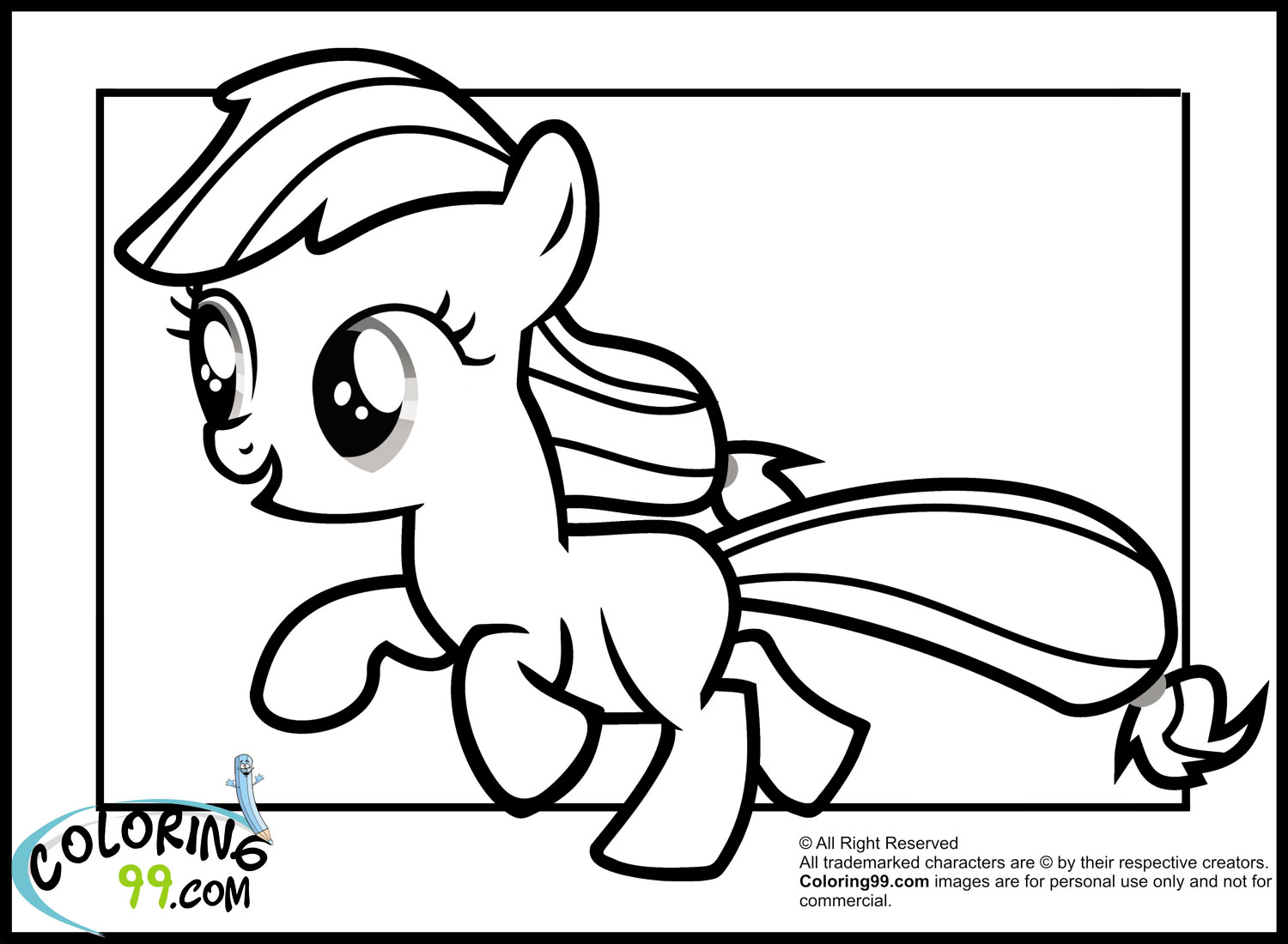 My Little Pony Coloring Pages Baby Rarity : Mlp baby rarity coloring pages of