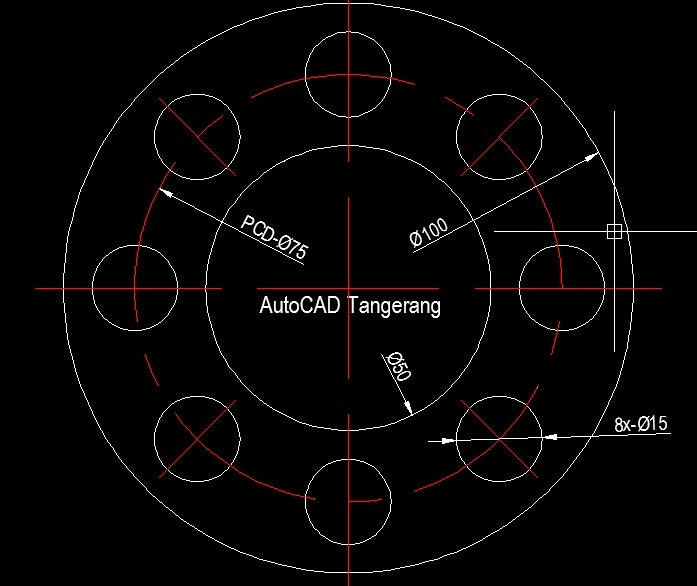 Latihan AutoCAD Array Polar