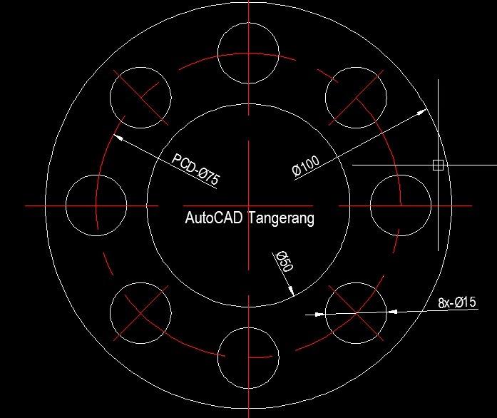 Latihan AutoCAD Array Polar