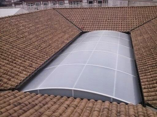 Policarbonato del techo o cubierta de la piscina - Cerramientos y ...