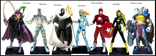 <b>Wave 22</b>: Whiplash, Martinex, Doorman, Kymaera, Red Guardian, Darkstar and Death's Head