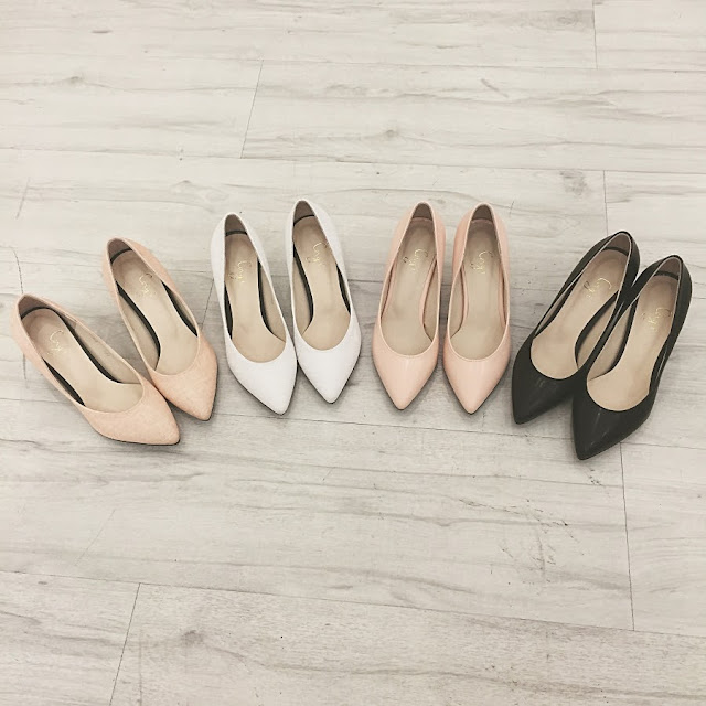Pointy midi lady heels